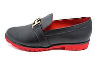 Мокасины кожаные Trend Crisma Collection 1850 Black Red, фото 1