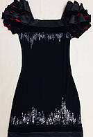 Выпускное платье Seam с пайетками, вечернее платье, черное, черно-красное, размер S M, б/у