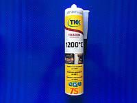 Герметик силикатный, жаростойкий TKK, 1200 градусов, черный, 300 мл
