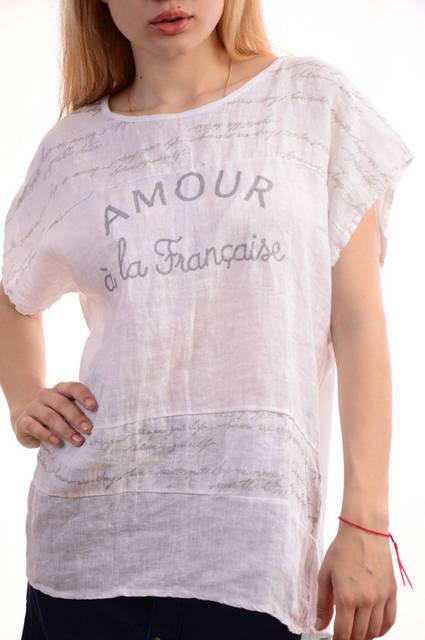 Женские льняные блузки-футболки оптом My luna лот12шт по 11Є
