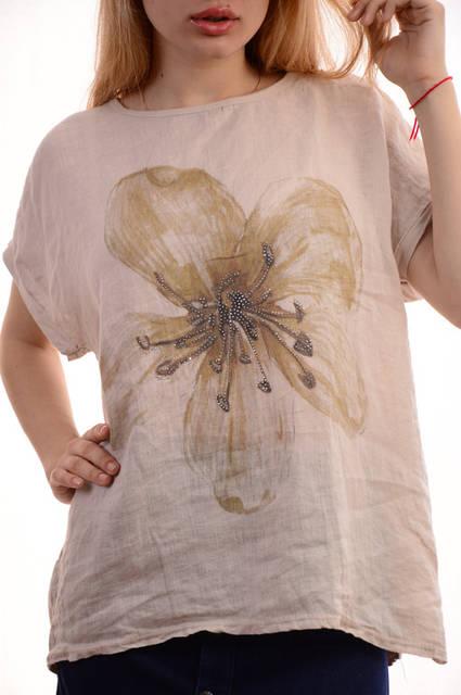 Женские льняные блузки-футболки оптом My luna лот12шт по 11Є 1