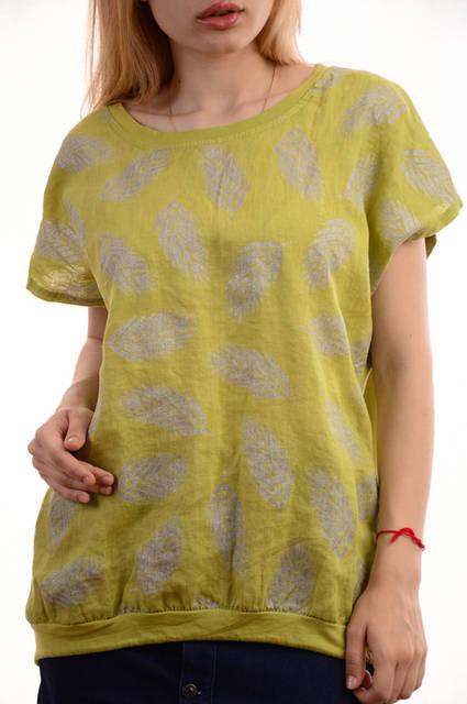 Женские льняные блузки-футболки оптом My luna лот12шт по 11Є 2