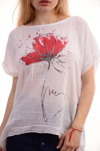 Женские льняные блузки-футболки оптом My luna лот12шт по 11Є 4