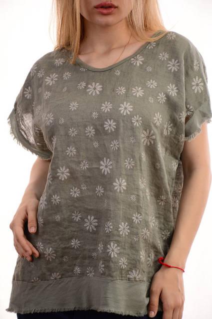 Женские льняные блузки-футболки оптом My luna лот12шт по 11Є 7