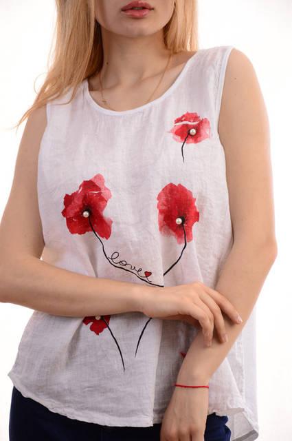 Женские льняные блузки-футболки оптом My luna лот12шт по 11Є 8