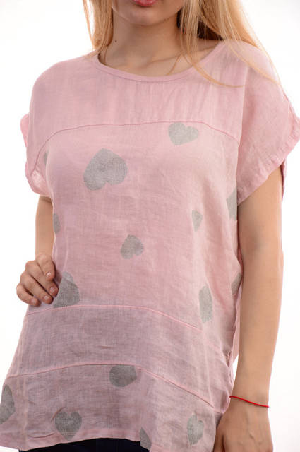 Женские льняные блузки-футболки оптом My luna лот12шт по 11Є 9