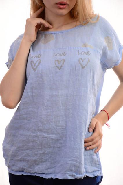 Женские льняные блузки-футболки оптом My luna лот12шт по 11Є 10