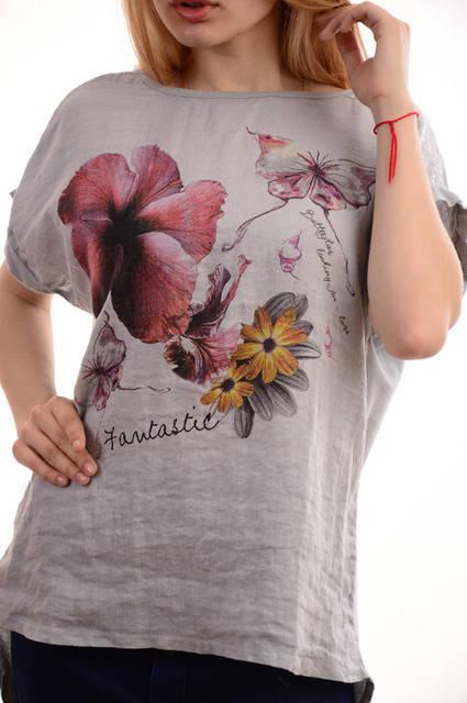 Женские льняные блузки-футболки оптом My luna лот12шт по 11Є 11