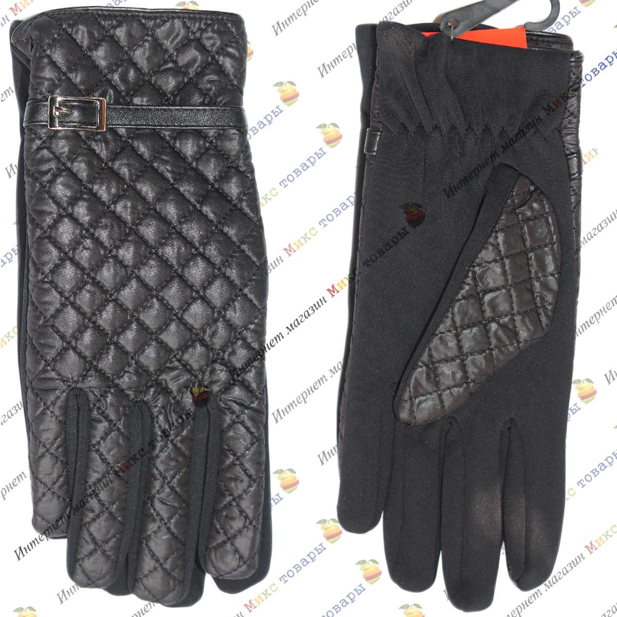 Чёрные женские перчатки