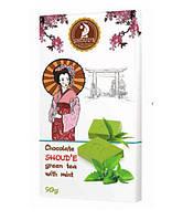 Органический шоколад SHOUD'E с зеленым чаем Matcha и мятой 90 г