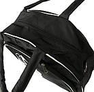 Спортивная сумка черная с белыми вставками, фото 2