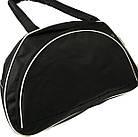 Спортивная сумка черная с белыми вставками, фото 3
