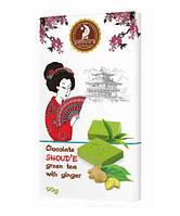 Органический шоколад SHOUD'E с зеленым чаем Matcha и имбирем 90 г