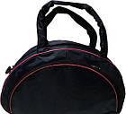Спортивная сумка синяя с розовыми вставками, фото 3