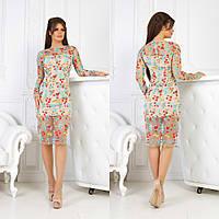 86d84af427e Шикарное вечернее праздничное двухслойное платье с красивой богатой вышивкой
