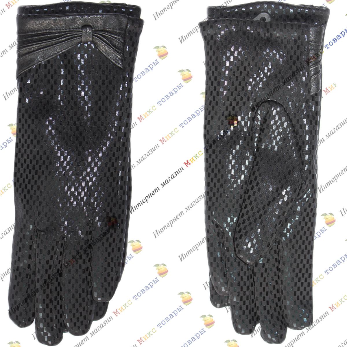 Стильные трикотажные Женские перчатки