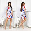 Летнее молодежное платье мини красивым веселым принтом девочек модниц, фото 2
