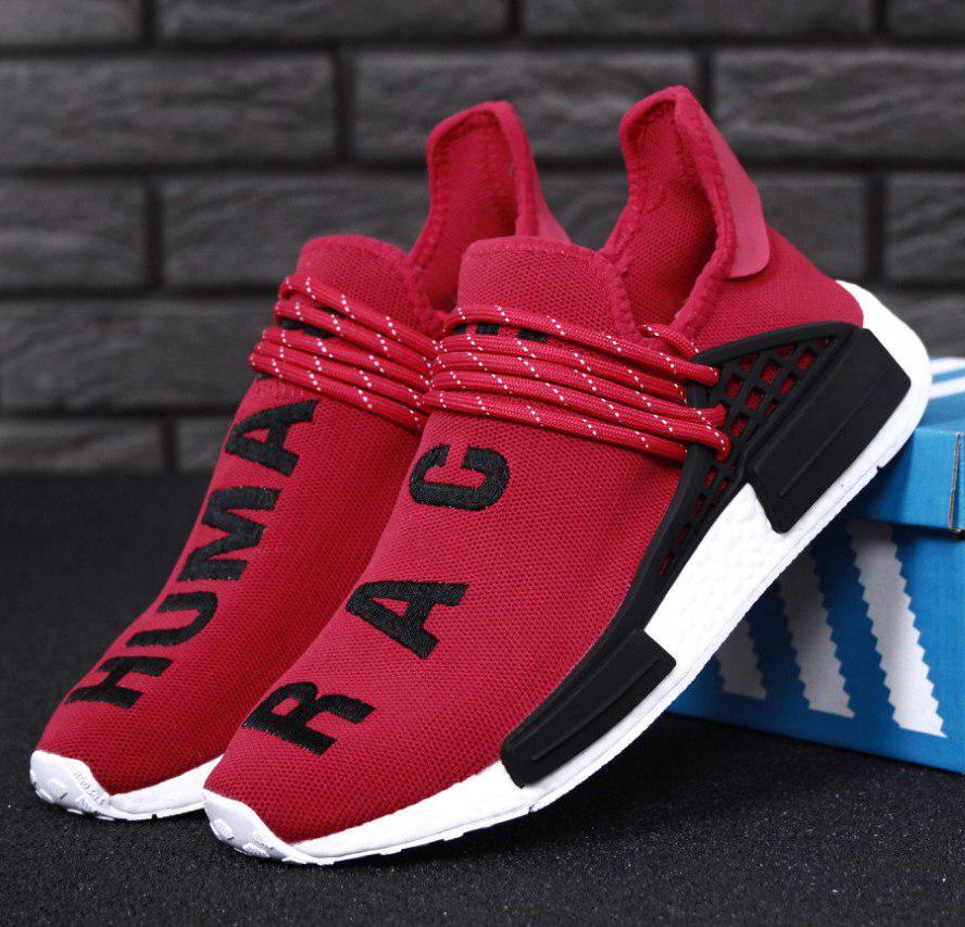 Мужские кроссовки Adidas NMD Human Race x Pharrell Williams Red