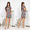 Практичное повседневное платье мини с коротким рукавом и интересными принтами на лето, фото 4