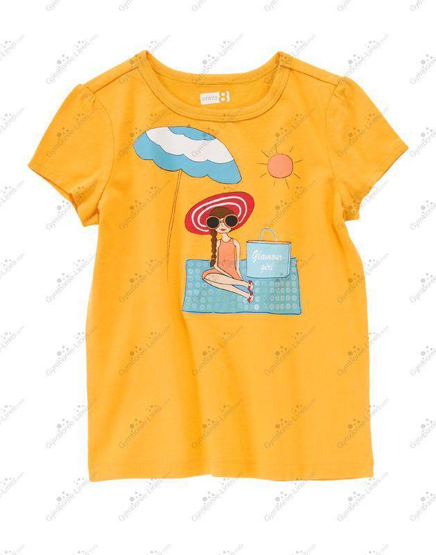 Яскрава футболка Glamour Girl (Розмір 7-8Т) Сrazy8 (США)