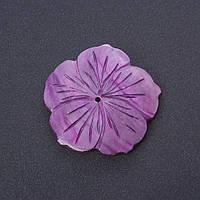 """Фурнитура """"каменный цветок"""" заготовка для украшений сиреневый цвет тонированный перламутр d-5см"""