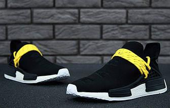 Мужские кроссовки Adidas NMD Human Race x Pharrell Williams Black, фото 3