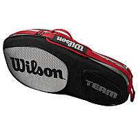 Теннисный чехол Wilson TEAM III 3PK BKGY 2018