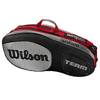 Теннисный чехол WILSON TEAM III 6PK BKGY 2018