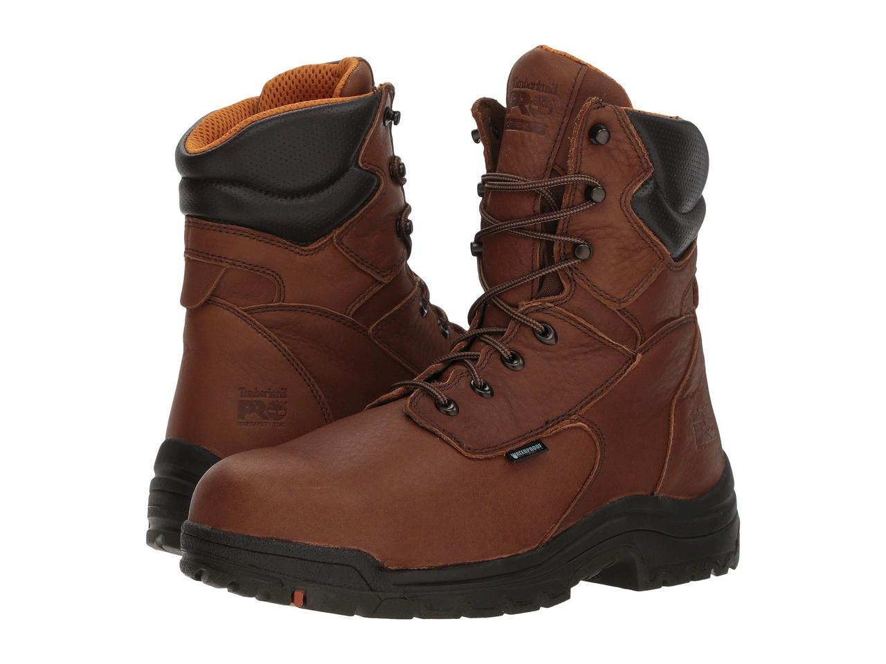 "Ботинки/Сапоги (Оригинал) Timberland PRO Titan® 8"" Waterproof Safety Toe Cappucino Full-Grain Leather"