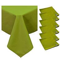 Набор скатерть и салфетки HALF PANAMA Green