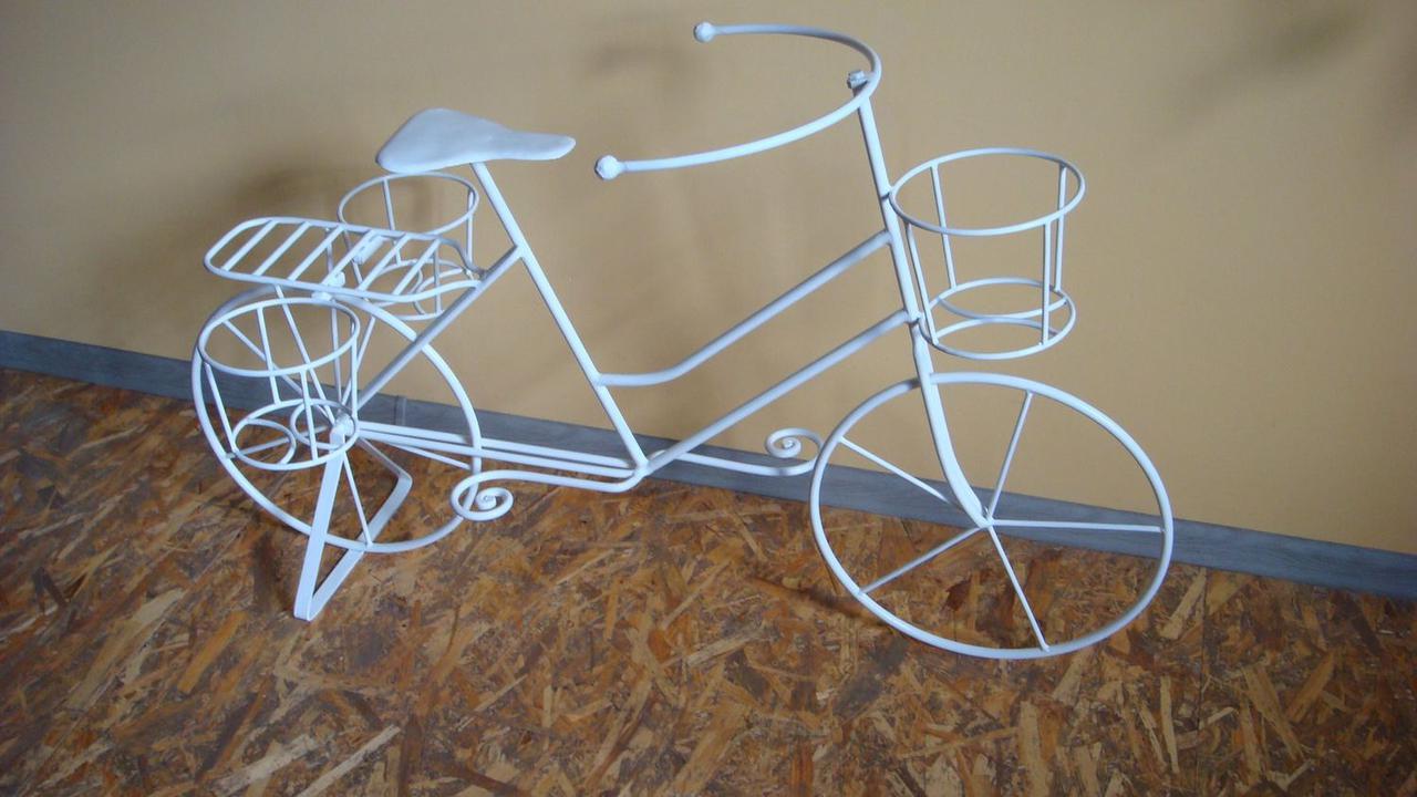 Велосипед декоративный подставка для цветов