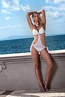 Сплошной купальник монокини push up с браком Amarea 16209 SALE 42 Белый