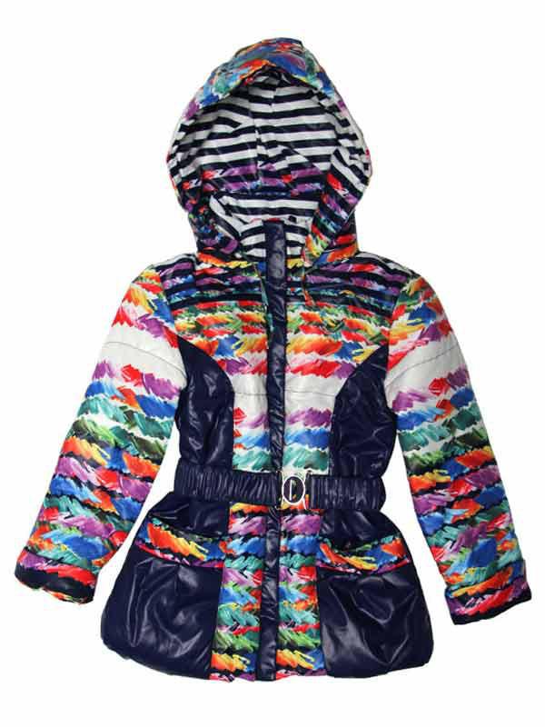 Куртка демисезонная для девочки 6-7 лет синяя