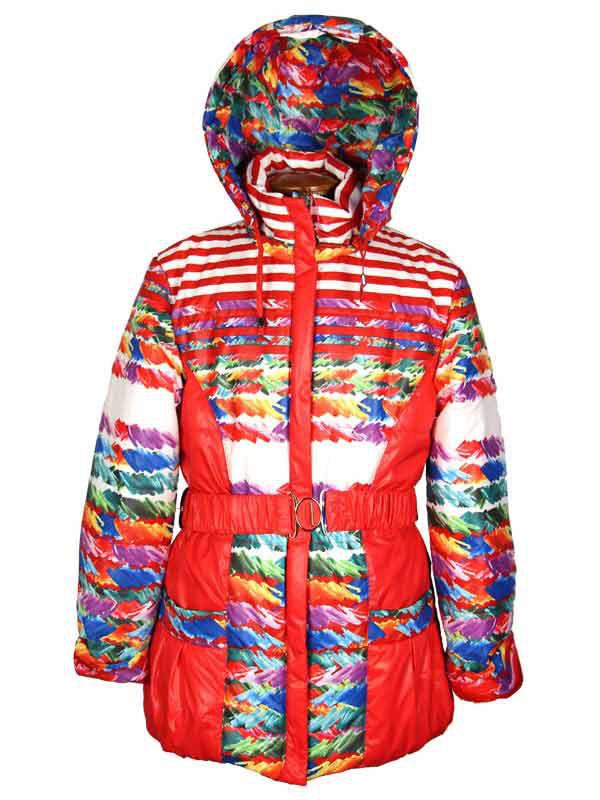 Яркая весенняя куртка для девочки 110-128 рост красная