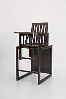 """Детский деревянный стульчик трансформер для кормления детей """"малятко"""" (орех) без вкладыша Дитячий Сон"""
