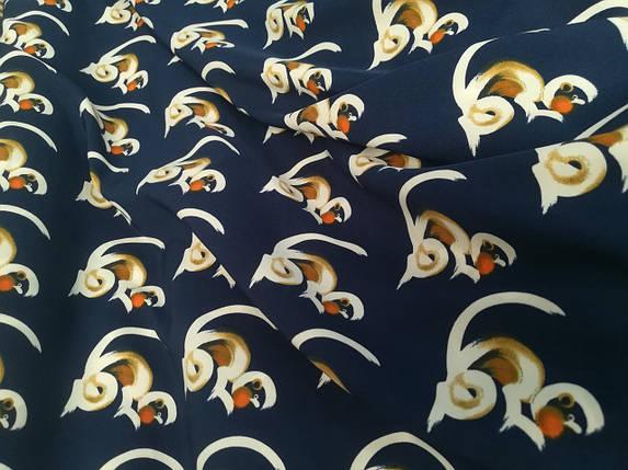 Ткань супер софт принт макаки, фото 2