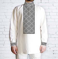 Заготовка мужской рубашки / вышиванки / сорочки для вышивки / вышивания бисером или нитками «Орнамент 501 С»