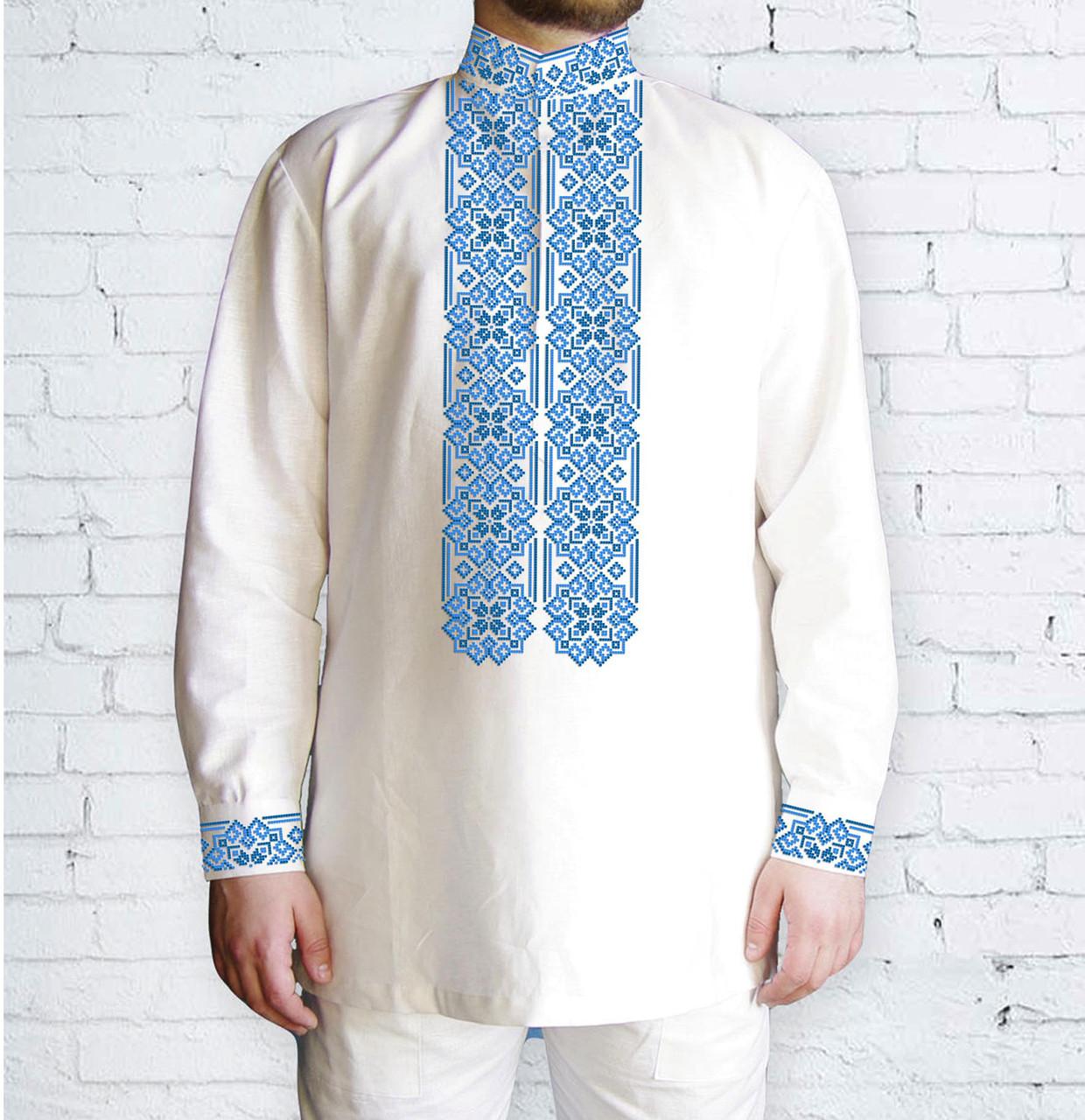 Заготовка мужской рубашки / вышиванки / сорочки для вышивки / вышивания бисером или нитками «Орнамент 531 Г»