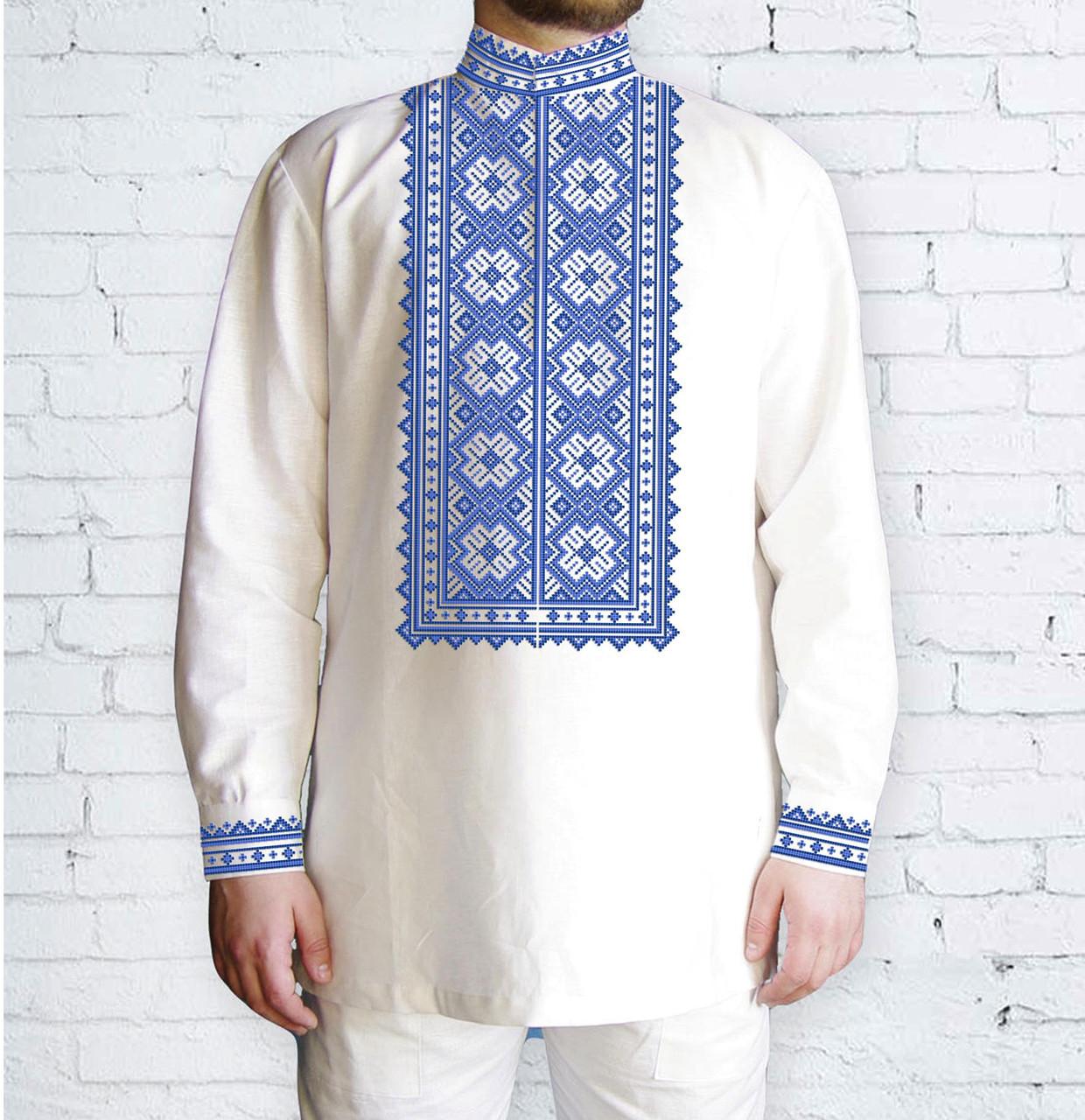 Заготовка мужской рубашки / вышиванки / сорочки для вышивки / вышивания бисером или нитками «Орнамент 525 Г»