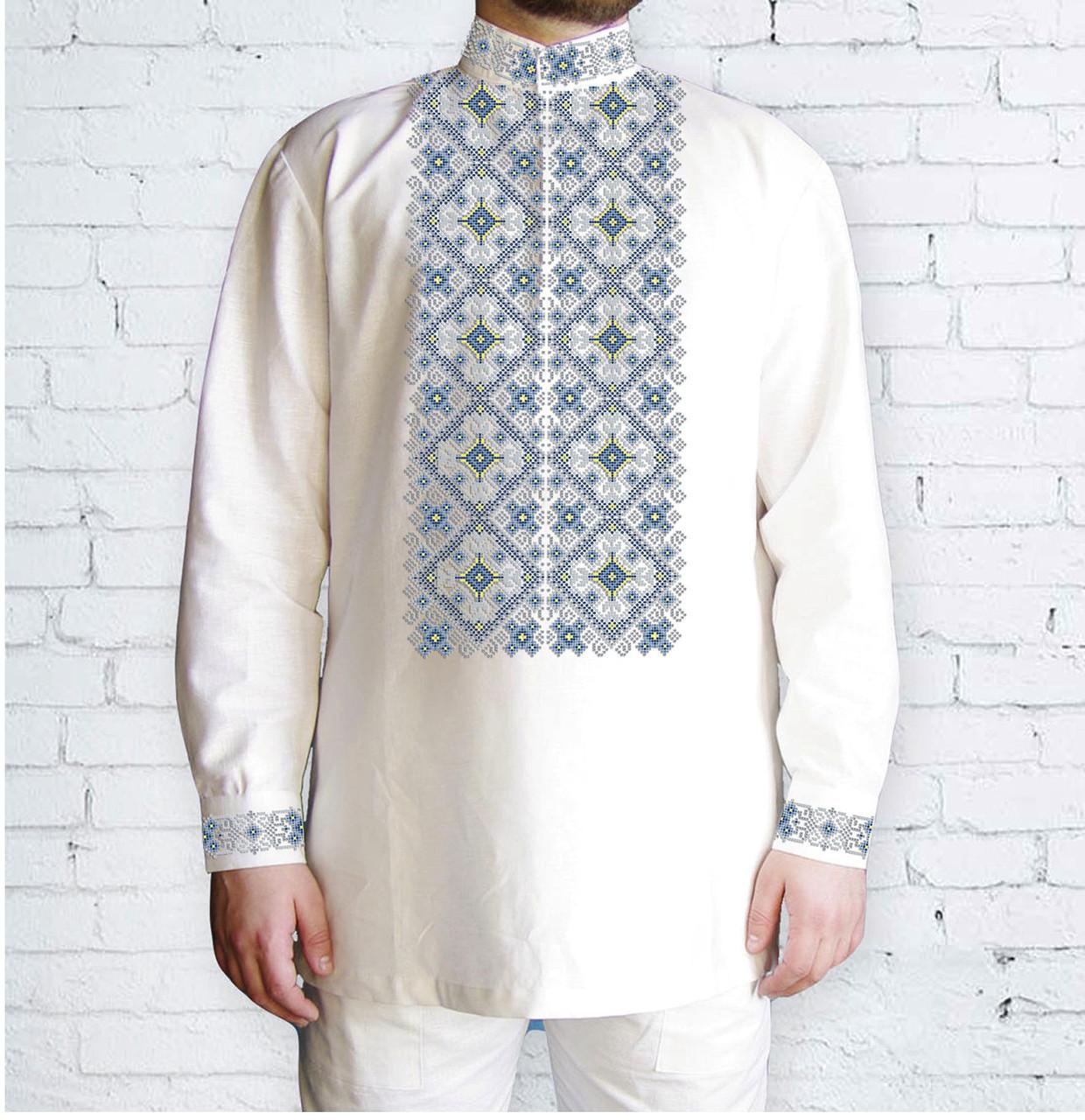Заготовка мужской рубашки / вышиванки / сорочки для вышивки / вышивания бисером или нитками «Орнамент 595 Г»