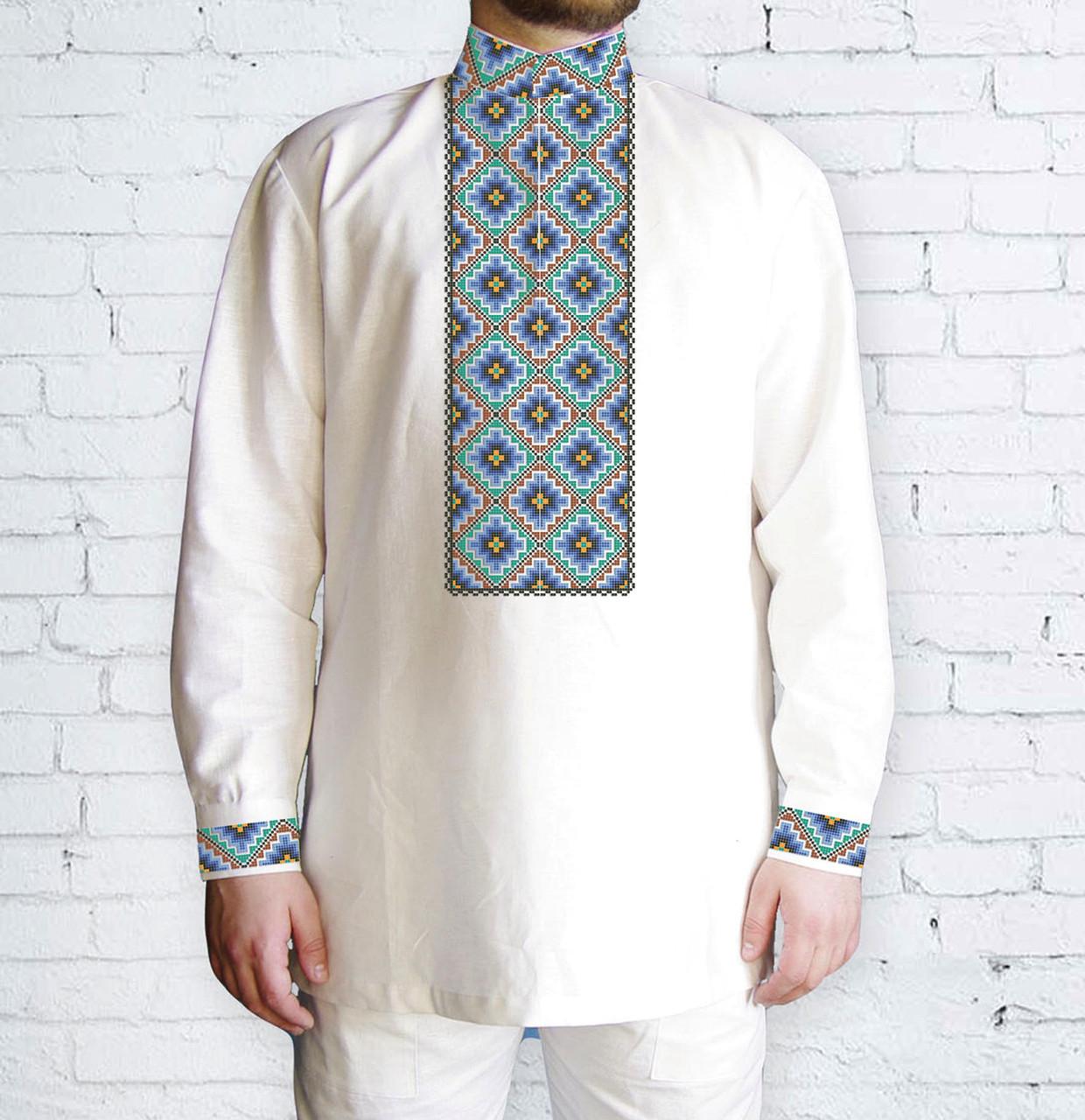 Заготовка мужской рубашки / вышиванки / сорочки для вышивки / вышивания бисером или нитками «3D»