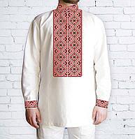 Заготовка мужской рубашки / вышиванки / сорочки для вышивки / вышивания бисером или нитками «Ромби червоні 508Ч»
