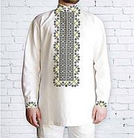 Заготовка мужской рубашки / вышиванки / сорочки для вышивки / вышивания бисером или нитками «548 Дивоцвіт»
