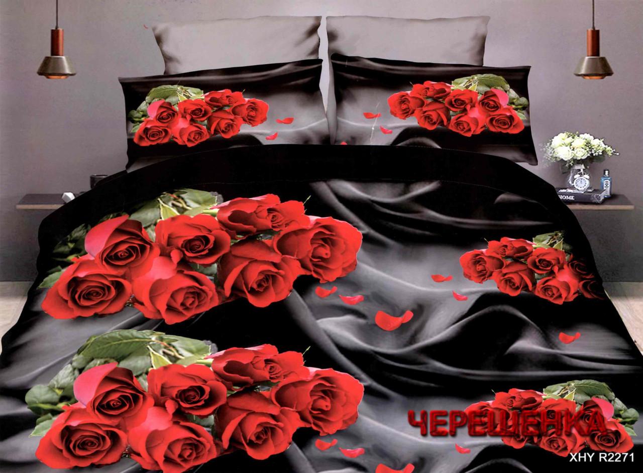 Полуторный набор постельного белья из Ранфорса №383 Черешенка™