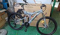 Горный велосипед Azimut Fusion 26 дюймов. Дисковые тормоза. Серый