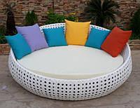 Воскресная садовая круглая кровать с матрасом и подушками
