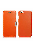 Чехол iCarer для iPhone 6/6S Luxury Orange (side-open) 3437