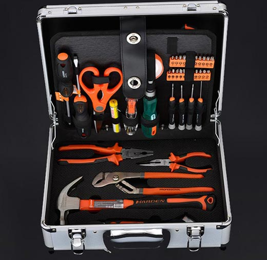 Набор инструментов 103 предмета, алюминиевый кейс Harden Tools 510703