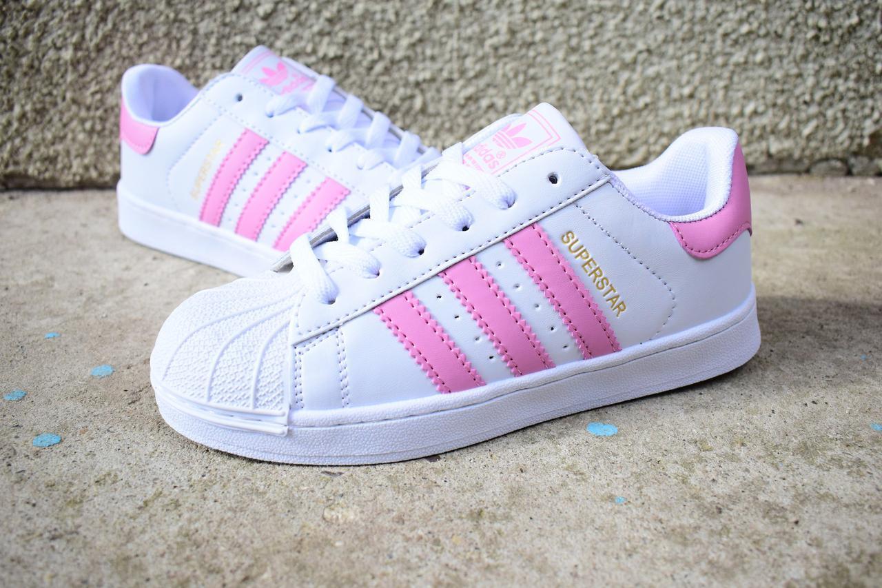 Жіночі кросівки Adidas Superstar (реплика) - Интернет-магазин вещей