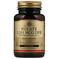 Solgar, Фолат в виде метафолина 1,333 MCG DFE, 800 мкг, 100 таблеток